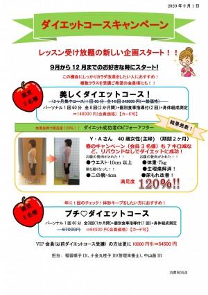 ダイエットコース 9月から12月- ポスター